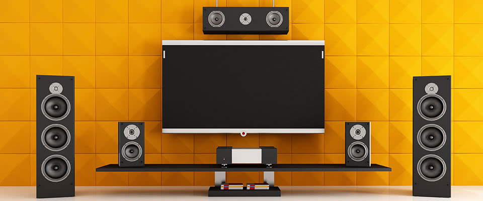 Home Theatre Setup with Home Theatre Setting